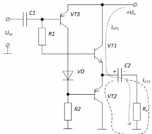 Схема двухтактного усилителя мощности