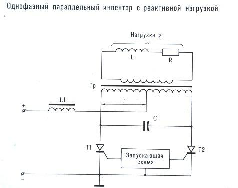Однофазный параллельный инвертор с реактивной нагрузкой