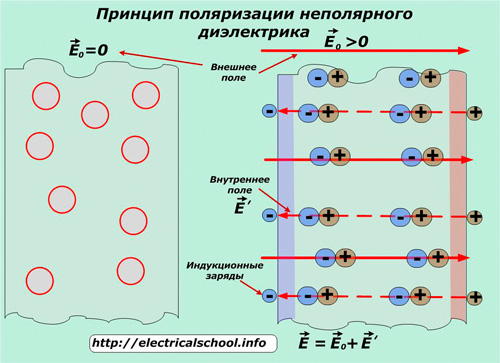 Поляризация неполярного диэлектрика