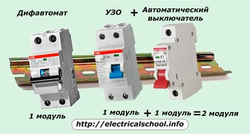 Дифавтомат, УЗО и автоматичсекий выключатель