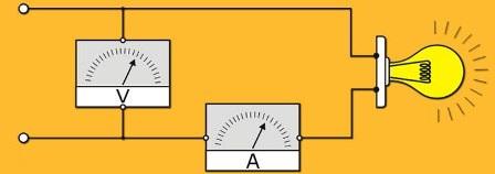Схема измерения тока и напряжения