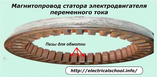 Магнитопровод статора электродвигателя постоянного тока