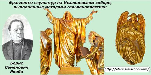 Фрагменты скульптур на Исакиевском соборе, выполненные методом гальванопластики