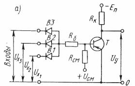 Схема логического элемента ИЛИ — НЕ, выполняющего логические операции