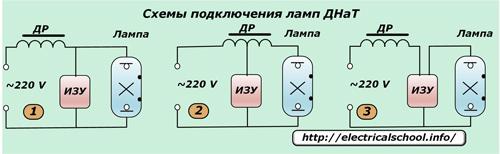 Схемы подключения ламп ДНаТ