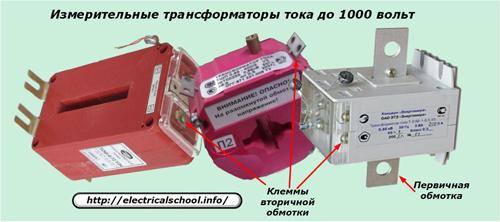 Измерительные трансформаторы тока до 1000 В
