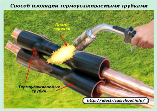 способ изоляции термоусаживаемыми трубками