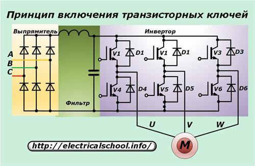 Принцип включения транзисторных ключей