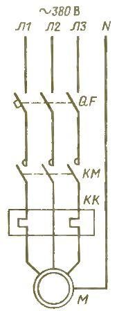 Схема электроснабжения насоса