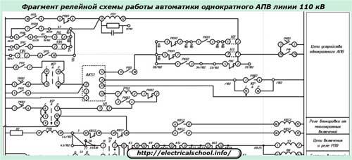 Фрагмент схемы АПВ
