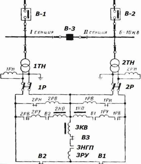 Схема двухстороннего АВР