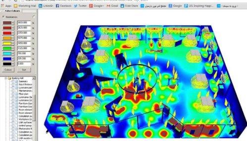 Отображение результатов светотехнических расчетов