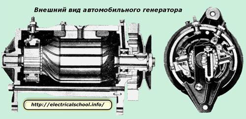 Внешний вид автомобильного генератора