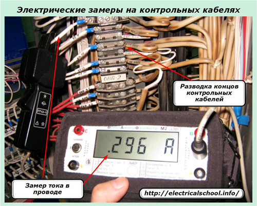 Электрические замеры на контрольных кабелях