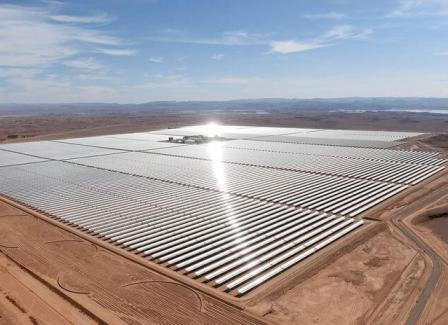 Солненчная электростанция в пустыне Сахара