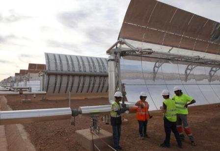 Параболоцилиндрическая солнечная электростанция