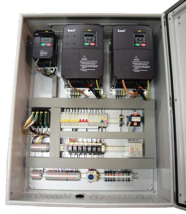 частотные преобразователи в шкафу управления