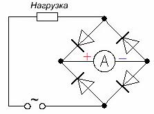 Схема выпрямления для измерения переменного тока