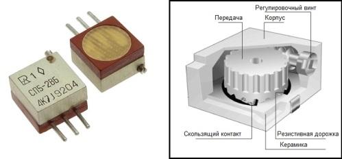 подстроечный многооборотный резистор СП5-2ВБ