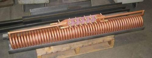 Соленоидный индуктор сквозного нагрева