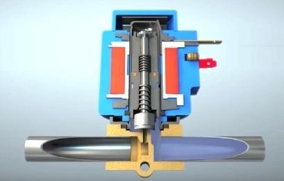 Электромагнитный клапан трубопровода