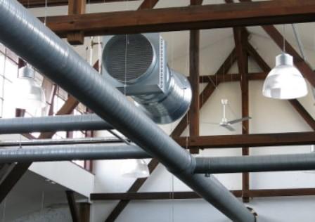 Вентиляция в промышленном цеху