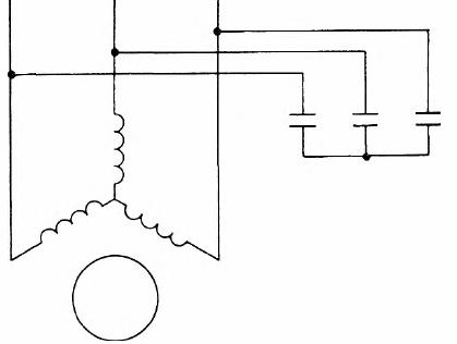 Схема динамического торможения асинхронного двигателя с самовозбуждением
