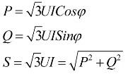 Определение мощности при симметричной нагрузке