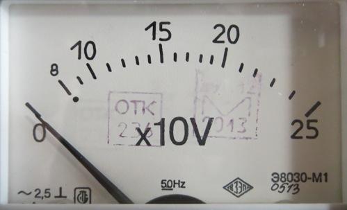 Условные обозначения на вольтметре