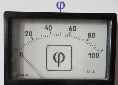 Прибор для измерения угла сдвига фаз с классом точности 2,5