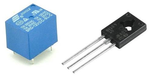 Реле SRD-12VDC-SL-C и транзистор