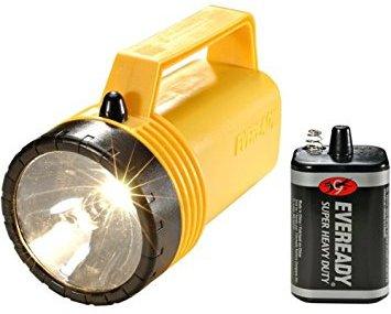 Электрический ток в лампочке фанарика