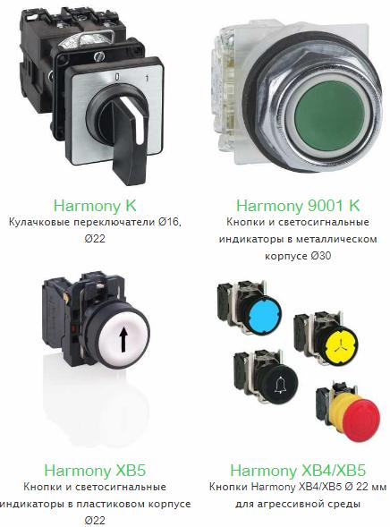 Кнопки и переключатели Schneider Electric