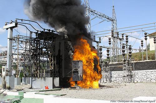 Возгорание в электроустановке