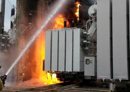 Возгорание трансформатора