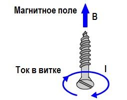 Направление тока в витке