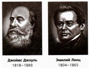 Джеймс Джоуль и Эмилий Ленц