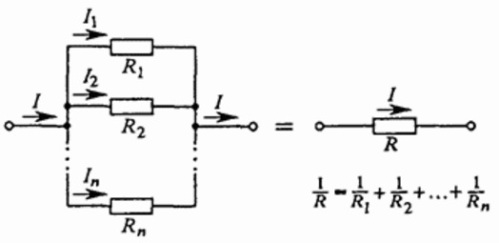Ток при параллельном соединении проводников