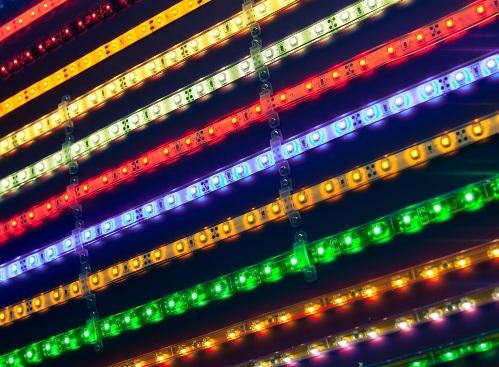 Разноцветные светодиодные линейки