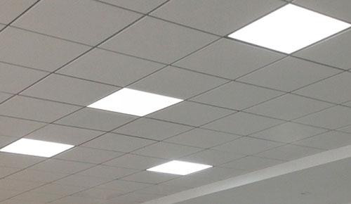 Светодиодные панели в помещении