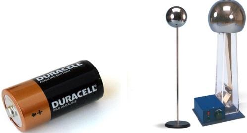 Батарейка и генератор Ван де Граафа