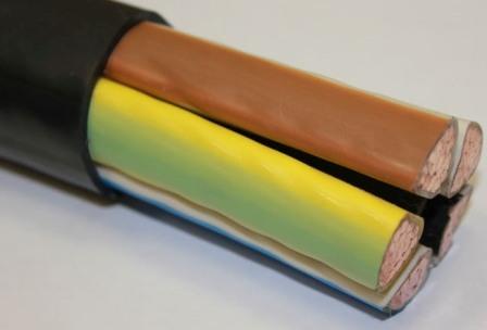 Пример пластмассовой электроизоляции — оболочка силового кабеля ВВГ