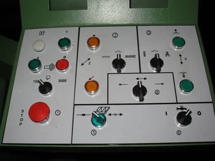 Кнопки управления приводами станка