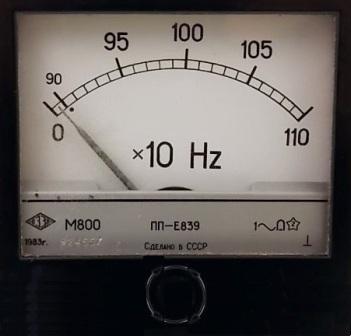 Аналоговый стрелочный частотомер