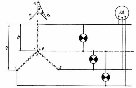 схема соединения звездой