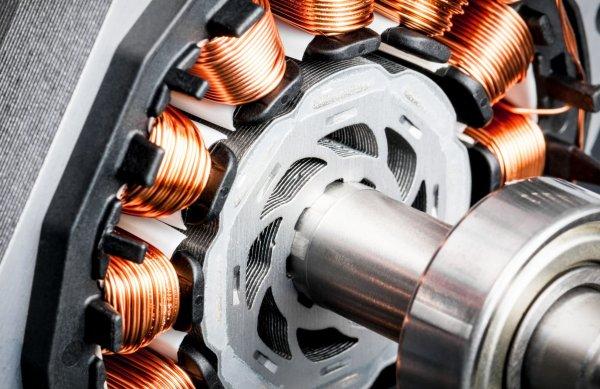 Электродвигатель в разобранном виде
