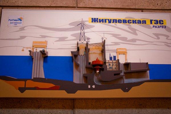 Разрез по зданию ГЭС