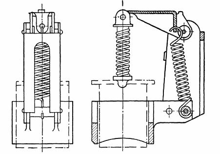 Щеткодержатель крупной машины постоянного тока