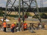 Бетонные работы, бетонирование опор линий электропередачи